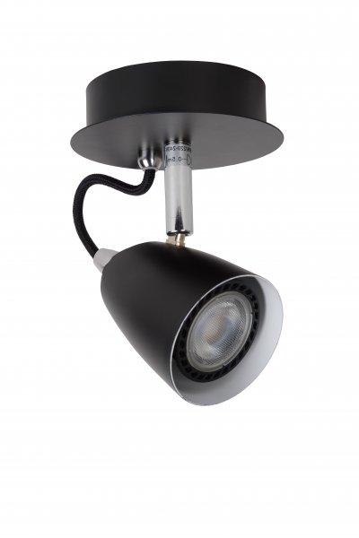 Светильник Lucide 26956/05/30Одиночные<br><br><br>S освещ. до, м2: 2<br>Тип лампы: галогенная/LED<br>Тип цоколя: GU10<br>Диаметр, мм мм: 100<br>Высота, мм: 150<br>MAX мощность ламп, Вт: 35