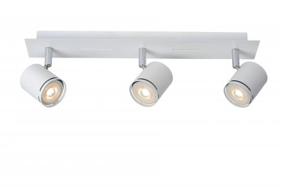 Светильник Lucide 26994/15/31тройные споты<br><br><br>S освещ. до, м2: 5<br>Тип лампы: LED - светодиодная<br>Тип цоколя: GU10<br>Цвет арматуры: белый<br>Количество ламп: 3<br>Ширина, мм: 75<br>Длина, мм: 420<br>Высота, мм: 120<br>MAX мощность ламп, Вт: 4.5