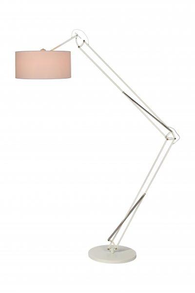 Торшер Lucide 30710/01/31Современные<br><br><br>Тип лампы: накал-я - энергосбер-я<br>Тип цоколя: E27<br>Цвет арматуры: белый<br>Количество ламп: 1<br>Диаметр, мм мм: 380<br>Высота, мм: 2200<br>MAX мощность ламп, Вт: 60
