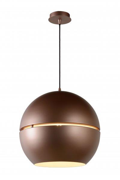 Светильник Lucide 31435/40/19одиночные подвесные светильники<br><br><br>S освещ. до, м2: 3<br>Тип лампы: Накаливания / энергосбережения / светодиодная<br>Тип цоколя: E27<br>Цвет арматуры: розоватый золотой<br>Количество ламп: 1<br>Диаметр, мм мм: 400<br>Высота, мм: 500 - 1660<br>MAX мощность ламп, Вт: 60