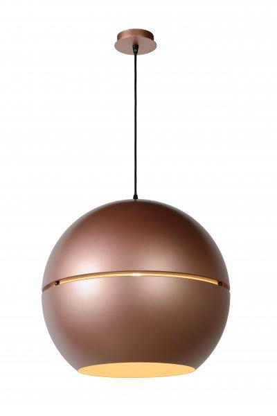 Светильник Lucide 31435/50/19Одиночные<br><br><br>S освещ. до, м2: 3<br>Тип лампы: Накаливания / энергосбережения / светодиодная<br>Тип цоколя: E27<br>Цвет арматуры: розоватый золотой<br>Количество ламп: 1<br>Диаметр, мм мм: 500<br>Высота, мм: 560 - 1760<br>MAX мощность ламп, Вт: 60