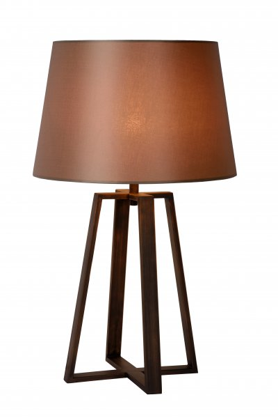 Светильник Lucide 31598/81/97Современные настольные лампы модерн<br><br><br>Тип лампы: накал-я - энергосбер-я<br>Тип цоколя: E27<br>Цвет арматуры: коричневый<br>Количество ламп: 1<br>Диаметр, мм мм: 350<br>Высота, мм: 630<br>MAX мощность ламп, Вт: 60