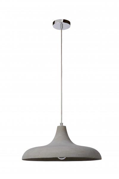 Светильник Lucide 34405/40/41одиночные подвесные светильники<br><br><br>S освещ. до, м2: 3<br>Тип лампы: Накаливания / энергосбережения / светодиодная<br>Тип цоколя: E27<br>Цвет арматуры: серебристый хром<br>Количество ламп: 1<br>Диаметр, мм мм: 400<br>Высота, мм: 1520<br>MAX мощность ламп, Вт: 60