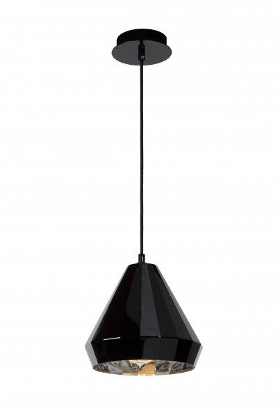 Lucide LYNA 34432/01/30 подвесной светильникОжидается<br><br><br>S освещ. до, м2: 2<br>Тип цоколя: E27<br>Цвет арматуры: черный<br>Количество ламп: 1<br>Ширина, мм: 220<br>Высота, мм: 1550