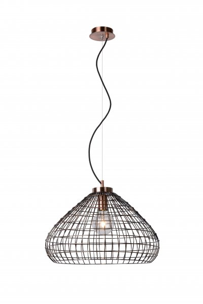 Светильник Lucide 71360/50/17одиночные подвесные светильники<br><br><br>S освещ. до, м2: 3<br>Тип лампы: Накаливания / энергосбережения / светодиодная<br>Тип цоколя: E27<br>Количество ламп: 1<br>Диаметр, мм мм: 500<br>Высота, мм: 1300<br>MAX мощность ламп, Вт: 60