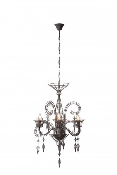 Светильник Lucide 78370/03/50подвесные кованые люстры<br><br><br>Установка на натяжной потолок: Да<br>S освещ. до, м2: 6<br>Тип лампы: Накаливания / энергосбережения / светодиодная<br>Тип цоколя: E14<br>Количество ламп: 1<br>Диаметр, мм мм: 600<br>Высота, мм: 690<br>MAX мощность ламп, Вт: 40