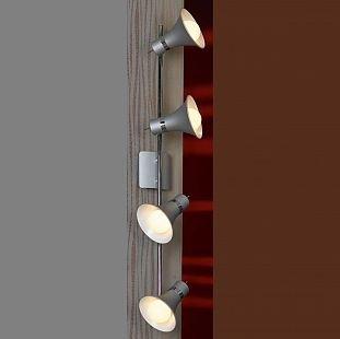 Светильник поворотный спот Lussole LSL-7209-04 MONTERADOспоты 4 лампы<br>Светильники-споты – это оригинальные изделия с современным дизайном. Они позволяют не ограничивать свою фантазию при выборе освещения для интерьера. Такие модели обеспечивают достаточно качественный свет. Благодаря компактным размерам Вы можете использовать несколько спотов для одного помещения.  Интернет-магазин «Светодом» предлагает необычный светильник-спот Lussole LSL-7209-04 по привлекательной цене. Эта модель станет отличным дополнением к люстре, выполненной в том же стиле. Перед оформлением заказа изучите характеристики изделия.  Купить светильник-спот Lussole LSL-7209-04 в нашем онлайн-магазине Вы можете либо с помощью формы на сайте, либо по указанным выше телефонам. Обратите внимание, что у нас склады не только в Москве и Екатеринбурге, но и других городах России.<br><br>S освещ. до, м2: 16<br>Тип лампы: накал-я - энергосбер-я<br>Тип цоколя: E27<br>Количество ламп: 4<br>Ширина, мм: 150<br>Расстояние от стены, мм: 190<br>Высота, мм: 810<br>MAX мощность ламп, Вт: 60