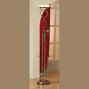 Торшер со столиком Lussole LSN-8955-02 ComfortСо столиком<br>торшер со столиком стеклянным (прозрачным), который может убираться при необходимости. Все лампы диммируются, не смотря на большую мощность ламп.<br><br>S освещ. до, м2: 25<br>Тип лампы: галогенная / LED-светодиодная<br>Тип цоколя: R7S/GY6,35<br>Количество ламп: 01.янв<br>MAX мощность ламп, Вт: 300/50<br>Диаметр, мм мм: 330<br>Высота, мм: 1820<br>Оттенок (цвет): белый<br>Цвет арматуры: бронзовый