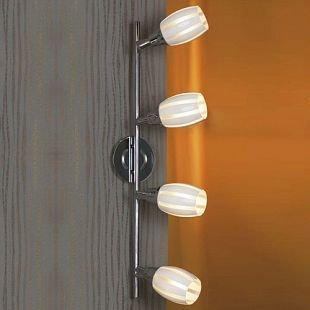 Светильник поворотный спот Lussole LSX-6709-04 BRINDISIспоты 4 лампы<br>Светильники-споты – это оригинальные изделия с современным дизайном. Они позволяют не ограничивать свою фантазию при выборе освещения для интерьера. Такие модели обеспечивают достаточно качественный свет. Благодаря компактным размерам Вы можете использовать несколько спотов для одного помещения.  Интернет-магазин «Светодом» предлагает необычный светильник-спот Lussole LSX-6709-04 по привлекательной цене. Эта модель станет отличным дополнением к люстре, выполненной в том же стиле. Перед оформлением заказа изучите характеристики изделия.  Купить светильник-спот Lussole LSX-6709-04 в нашем онлайн-магазине Вы можете либо с помощью формы на сайте, либо по указанным выше телефонам. Обратите внимание, что у нас склады не только в Москве и Екатеринбурге, но и других городах России.<br><br>S освещ. до, м2: 11<br>Тип лампы: накал-я - энергосбер-я<br>Тип цоколя: E14<br>Цвет арматуры: серебристый<br>Количество ламп: 4<br>Ширина, мм: 110<br>Длина, мм: 650<br>Высота, мм: 200<br>MAX мощность ламп, Вт: 40
