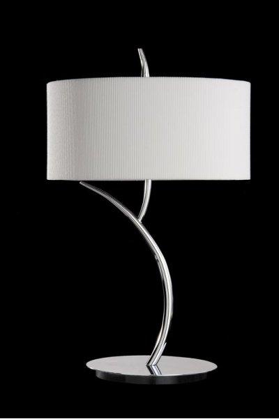 Светильник Mantra 1137 EVEСовременные настольные лампы модерн<br>Настольная лампа – это не просто источник дополнительного освещения, но и оригинальный элемент декора. Его можно установить в спальне, гостиной, кабинете и других комнатах. Интернет-магазин «Светодом» предлагает настольные лампы разных стилей по доступным ценам. Благодаря большому ассортименту Вы обязательно найдете в нашем каталоге именно ту модель, которую искали.   Настольная лампа Mantra 1137 – прекрасный вариант для завершения интерьера. Ее можно включить одновременно с люстрой для более яркого освещения или без нее для создания уютной атмосферы, настраивающей на отдых.   Купить настольную лампу Mantra 1137 Вы можете с помощью виртуальной «Корзины» или по контактным номерам, указанным на сайте.<br><br>S освещ. до, м2: 2<br>Тип лампы: накаливания / энергосбережения / LED-светодиодная<br>Тип цоколя: E27<br>Цвет арматуры: серебристый хром / CREAM<br>Количество ламп: 2<br>Диаметр, мм мм: 300<br>Размеры: D 310 H 500<br>Высота, мм: 460<br>Оттенок (цвет): кремовый<br>MAX мощность ламп, Вт: 20