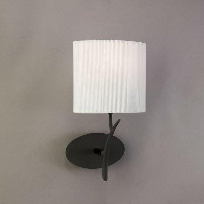 Светильник Mantra 1154 EVEсовременные бра модерн<br><br><br>S освещ. до, м2: 1<br>Тип лампы: накаливания / энергосбережения / LED-светодиодная<br>Тип цоколя: E27<br>Цвет арматуры: черный<br>Количество ламп: 1<br>Ширина, мм: 140<br>Размеры: W 185 H 335 Выступ<br>Длина, мм: 180<br>Высота, мм: 340<br>Оттенок (цвет): кремовый<br>MAX мощность ламп, Вт: 20