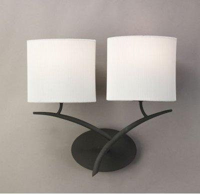Светильник Mantra 1155 EVEСовременные<br><br><br>S освещ. до, м2: 2<br>Тип лампы: накаливания / энергосбережения / LED-светодиодная<br>Тип цоколя: E27<br>Цвет арматуры: черный<br>Количество ламп: 2<br>Ширина, мм: 140<br>Размеры: W 395 H 365 Выступ<br>Длина, мм: 390<br>Высота, мм: 380<br>Оттенок (цвет): кремовый<br>MAX мощность ламп, Вт: 20