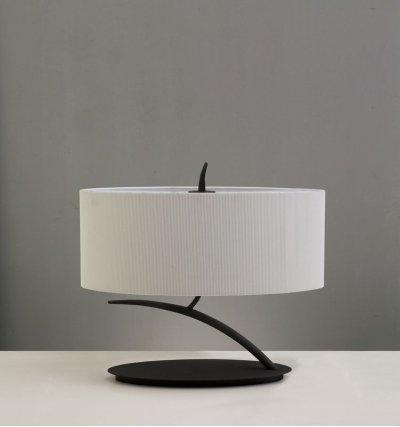 Светильник Mantra 1158 EVEСовременные<br>Настольная лампа – это не просто источник дополнительного освещения, но и оригинальный элемент декора. Его можно установить в спальне, гостиной, кабинете и других комнатах. Интернет-магазин «Светодом» предлагает настольные лампы разных стилей по доступным ценам. Благодаря большому ассортименту Вы обязательно найдете в нашем каталоге именно ту модель, которую искали.   Настольная лампа Mantra 1158 – прекрасный вариант для завершения интерьера. Ее можно включить одновременно с люстрой для более яркого освещения или без нее для создания уютной атмосферы, настраивающей на отдых.   Купить настольную лампу Mantra 1158 Вы можете с помощью виртуальной «Корзины» или по контактным номерам, указанным на сайте.<br><br>S освещ. до, м2: 2<br>Тип лампы: накаливания / энергосбережения / LED-светодиодная<br>Тип цоколя: E27<br>Цвет арматуры: черный<br>Количество ламп: 2<br>Ширина, мм: 255<br>Размеры: W 450x265 H 410<br>Длина, мм: 450<br>Высота, мм: 360<br>Оттенок (цвет): кремовый<br>MAX мощность ламп, Вт: 20