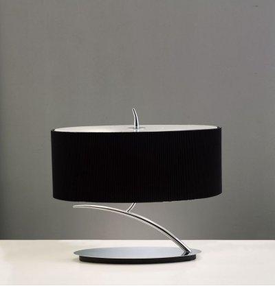 Светильник Mantra 1178 EVEСовременные настольные лампы модерн<br>Настольная лампа – это не просто источник дополнительного освещения, но и оригинальный элемент декора. Его можно установить в спальне, гостиной, кабинете и других комнатах. Интернет-магазин «Светодом» предлагает настольные лампы разных стилей по доступным ценам. Благодаря большому ассортименту Вы обязательно найдете в нашем каталоге именно ту модель, которую искали.   Настольная лампа Mantra 1178 – прекрасный вариант для завершения интерьера. Ее можно включить одновременно с люстрой для более яркого освещения или без нее для создания уютной атмосферы, настраивающей на отдых.   Купить настольную лампу Mantra 1178 Вы можете с помощью виртуальной «Корзины» или по контактным номерам, указанным на сайте.<br><br>S освещ. до, м2: 2<br>Тип лампы: накаливания / энергосбережения / LED-светодиодная<br>Тип цоколя: E27<br>Цвет арматуры: серебристый хром / черный<br>Количество ламп: 2<br>Ширина, мм: 255<br>Размеры: W 450x265 H 410<br>Длина, мм: 450<br>Высота, мм: 360<br>Оттенок (цвет): черный<br>MAX мощность ламп, Вт: 20