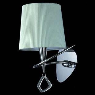 Светильник Mantra 1647 MARAсовременные бра модерн<br><br><br>S освещ. до, м2: 1<br>Тип лампы: накаливания / энергосбережения / LED-светодиодная<br>Тип цоколя: E14<br>Цвет арматуры: серебристый хром<br>Количество ламп: 1<br>Ширина, мм: 200<br>Размеры: W 160  H 340  Выступ 200<br>Длина, мм: 160<br>Высота, мм: 340<br>MAX мощность ламп, Вт: 20