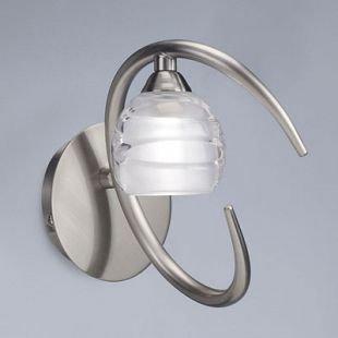 Светильник Mantra 1816 LOOPсовременные бра модерн<br><br><br>Тип лампы: галогенная<br>Тип цоколя: G9<br>Цвет арматуры: серебристый никель<br>Количество ламп: 1<br>Ширина, мм: 100<br>Размеры: W 100  H 165  Выступ 170<br>Длина, мм: 170<br>Высота, мм: 165<br>MAX мощность ламп, Вт: 33W