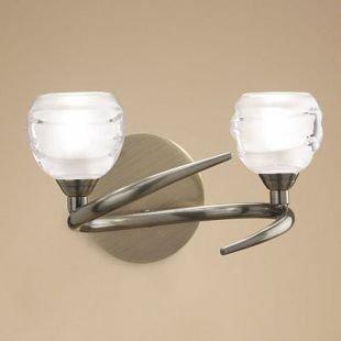 Светильник Mantra 1825 LOOPсовременные бра модерн<br><br><br>Тип лампы: галогенная<br>Тип цоколя: G9<br>Цвет арматуры: бронзовый античный<br>Количество ламп: 2<br>Ширина, мм: 180<br>Размеры: W 230  H 142  Выступ 180<br>Длина, мм: 230<br>Высота, мм: 142<br>MAX мощность ламп, Вт: 33W