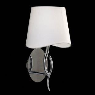 Светильник Mantra 1904 NINETTEсовременные бра модерн<br><br><br>S освещ. до, м2: 1<br>Тип лампы: накаливания / энергосбережения / LED-светодиодная<br>Тип цоколя: E14<br>Цвет арматуры: серебристый хром<br>Количество ламп: 1<br>Ширина, мм: 205<br>Диаметр, мм мм: 200<br>Размеры: D 200  H 369  Выступ 205<br>Высота, мм: 369<br>MAX мощность ламп, Вт: 20