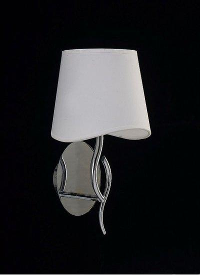 Светильник Mantra 1904 NINETTEСовременные<br><br><br>S освещ. до, м2: 1<br>Тип лампы: накаливания / энергосбережения / LED-светодиодная<br>Тип цоколя: E14<br>Цвет арматуры: серебристый хром<br>Количество ламп: 1<br>Ширина, мм: 205<br>Диаметр, мм мм: 200<br>Размеры: D 200  H 369  Выступ 205<br>Высота, мм: 369<br>MAX мощность ламп, Вт: 20
