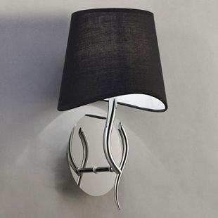 Светильник Mantra 1914 NINETTEсовременные бра модерн<br><br><br>S освещ. до, м2: 1<br>Тип лампы: накаливания / энергосбережения / LED-светодиодная<br>Тип цоколя: E14<br>Цвет арматуры: серебристый хром<br>Количество ламп: 1<br>Ширина, мм: 205<br>Диаметр, мм мм: 200<br>Размеры: D 200  H 369  Выступ 205<br>Высота, мм: 369<br>MAX мощность ламп, Вт: 20
