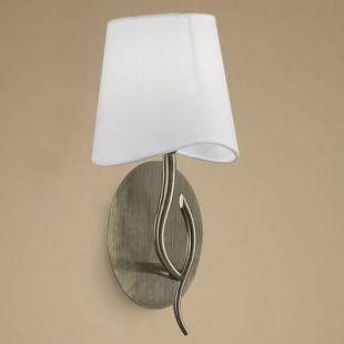 Светильник Mantra 1924 NINETTEсовременные бра модерн<br><br><br>S освещ. до, м2: 1<br>Тип лампы: накаливания / энергосбережения / LED-светодиодная<br>Тип цоколя: E14<br>Цвет арматуры: бронзовый античный<br>Количество ламп: 1<br>Ширина, мм: 205<br>Диаметр, мм мм: 200<br>Размеры: D 200  H 369  Выступ 205<br>Высота, мм: 369<br>MAX мощность ламп, Вт: 20
