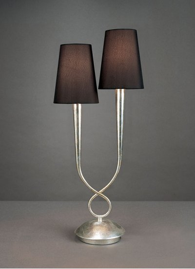 Светильник Mantra 3536 PAOLAСовременные настольные лампы модерн<br>Настольная лампа – это не просто источник дополнительного освещения, но и оригинальный элемент декора. Его можно установить в спальне, гостиной, кабинете и других комнатах. Интернет-магазин «Светодом» предлагает настольные лампы разных стилей по доступным ценам. Благодаря большому ассортименту Вы обязательно найдете в нашем каталоге именно ту модель, которую искали.   Настольная лампа Mantra 3536 – прекрасный вариант для завершения интерьера. Ее можно включить одновременно с люстрой для более яркого освещения или без нее для создания уютной атмосферы, настраивающей на отдых.   Купить настольную лампу Mantra 3536 Вы можете с помощью виртуальной «Корзины» или по контактным номерам, указанным на сайте.<br><br>S освещ. до, м2: 5<br>Тип лампы: накаливания / энергосбережения / LED-светодиодная<br>Тип цоколя: E14<br>Цвет арматуры: серебристый<br>Количество ламп: 2<br>Диаметр, мм мм: 240<br>Размеры: W 240  H 560<br>Высота, мм: 560<br>MAX мощность ламп, Вт: 40