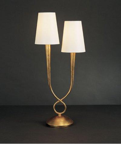 Светильник Mantra 3546 PAOLAСовременные настольные лампы модерн<br>Настольная лампа – это не просто источник дополнительного освещения, но и оригинальный элемент декора. Его можно установить в спальне, гостиной, кабинете и других комнатах. Интернет-магазин «Светодом» предлагает настольные лампы разных стилей по доступным ценам. Благодаря большому ассортименту Вы обязательно найдете в нашем каталоге именно ту модель, которую искали.   Настольная лампа Mantra 3546 – прекрасный вариант для завершения интерьера. Ее можно включить одновременно с люстрой для более яркого освещения или без нее для создания уютной атмосферы, настраивающей на отдых.   Купить настольную лампу Mantra 3546 Вы можете с помощью виртуальной «Корзины» или по контактным номерам, указанным на сайте.<br><br>S освещ. до, м2: 5<br>Тип лампы: накаливания / энергосбережения / LED-светодиодная<br>Тип цоколя: E14<br>Цвет арматуры: золотой<br>Количество ламп: 2<br>Диаметр, мм мм: 240<br>Размеры: W 240  H 560<br>Высота, мм: 560<br>MAX мощность ламп, Вт: 40