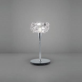 Светильник Mantra 3928 O2Хрустальные настольные лампы<br>Настольная лампа – это не просто источник дополнительного освещения, но и оригинальный элемент декора. Его можно установить в спальне, гостиной, кабинете и других комнатах. Интернет-магазин «Светодом» предлагает настольные лампы разных стилей по доступным ценам. Благодаря большому ассортименту Вы обязательно найдете в нашем каталоге именно ту модель, которую искали.   Настольная лампа Mantra 3928 – прекрасный вариант для завершения интерьера. Ее можно включить одновременно с люстрой для более яркого освещения или без нее для создания уютной атмосферы, настраивающей на отдых.   Купить настольную лампу Mantra 3928 Вы можете с помощью виртуальной «Корзины» или по контактным номерам, указанным на сайте.<br><br>S освещ. до, м2: 2<br>Тип лампы: галогенная / LED-светодиодная<br>Тип цоколя: G9<br>Цвет арматуры: серебристый хром<br>Количество ламп: 1<br>Диаметр, мм мм: 150<br>Размеры: H305 D150<br>Высота, мм: 305<br>MAX мощность ламп, Вт: 33