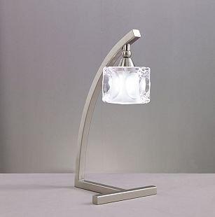 Светильник Mantra 4031 CUADRAXхрустальные настольные лампы<br>Настольная лампа – это не просто источник дополнительного освещения, но и оригинальный элемент декора. Его можно установить в спальне, гостиной, кабинете и других комнатах. Интернет-магазин «Светодом» предлагает настольные лампы разных стилей по доступным ценам. Благодаря большому ассортименту Вы обязательно найдете в нашем каталоге именно ту модель, которую искали.   Настольная лампа Mantra 4031 – прекрасный вариант для завершения интерьера. Ее можно включить одновременно с люстрой для более яркого освещения или без нее для создания уютной атмосферы, настраивающей на отдых.   Купить настольную лампу Mantra 4031 Вы можете с помощью виртуальной «Корзины» или по контактным номерам, указанным на сайте.<br><br>S освещ. до, м2: 2<br>Тип лампы: галогенная / LED-светодиодная<br>Тип цоколя: G9<br>Цвет арматуры: серебристый никель<br>Количество ламп: 1<br>Размеры: W 150 H 350<br>Длина, мм: 150<br>Высота, мм: 350<br>Оттенок (цвет): белый<br>MAX мощность ламп, Вт: 40