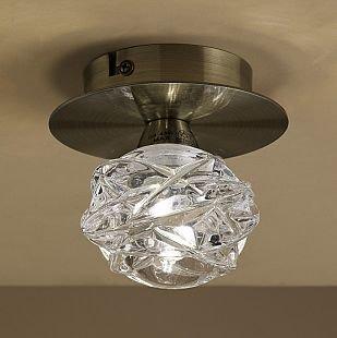 Светильник Mantra 4075 MAREMAGNUMбра флористика и цветы<br><br><br>Тип лампы: галогенная<br>Тип цоколя: G9<br>Цвет арматуры: бронзовый античный<br>Количество ламп: 1<br>Диаметр, мм мм: 120<br>Размеры: H100 D120<br>Высота, мм: 100<br>MAX мощность ламп, Вт: 33W