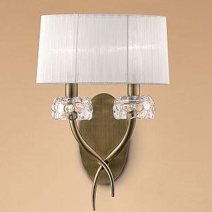 Светильник Mantra 4734 LOEWEСовременные<br><br><br>S освещ. до, м2: 1<br>Тип лампы: накаливания / энергосбережения / LED-светодиодная<br>Тип цоколя: E14<br>Цвет арматуры: бронзовый античный<br>Количество ламп: 2<br>Ширина, мм: 310<br>Размеры: W 310 L 186 H 460<br>Длина, мм: 186<br>Высота, мм: 460<br>MAX мощность ламп, Вт: 13