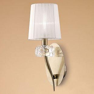 Светильник Mantra 4735 LOEWEсовременные бра модерн<br><br><br>Тип лампы: накаливания / энергосбережения / LED-светодиодная<br>Тип цоколя: E14<br>Цвет арматуры: бронзовый античный<br>Количество ламп: 1<br>Ширина, мм: 160<br>Размеры: W 160 L 191 H 432<br>Длина, мм: 191<br>Высота, мм: 432<br>MAX мощность ламп, Вт: 13