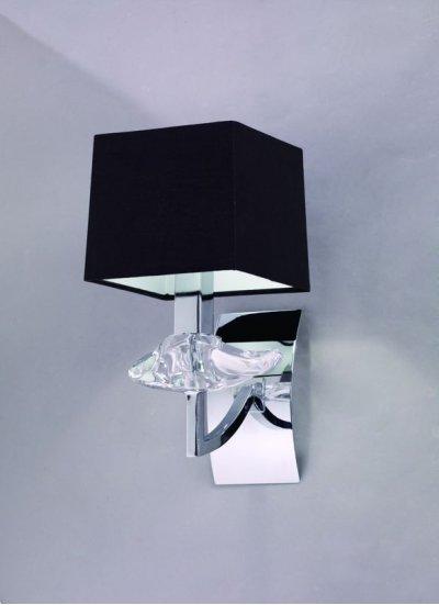 Светильник Mantra 786 AKIRAСовременные<br><br><br>S освещ. до, м2: 4<br>Тип лампы: накаливания / энергосбережения / LED-светодиодная<br>Тип цоколя: E14<br>Цвет арматуры: серебристый хром<br>Количество ламп: 1<br>Ширина, мм: 140<br>Размеры: D 140 H 280 W 190<br>Длина, мм: 200<br>Высота, мм: 290<br>MAX мощность ламп, Вт: 60