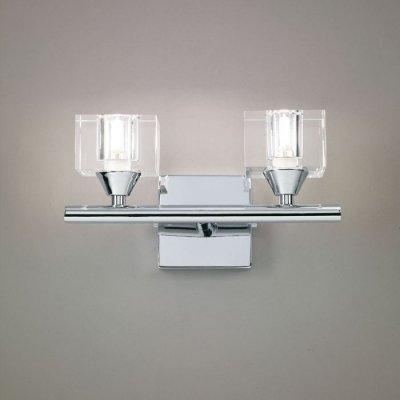 Светильник Mantra 963 CUADRAXхрустальные бра<br><br><br>S освещ. до, м2: 5<br>Тип лампы: галогенная / LED-светодиодная<br>Тип цоколя: G9<br>Цвет арматуры: серебристый хром<br>Количество ламп: 2<br>Ширина, мм: 150<br>Размеры: W 200 H 150 Выступ<br>Длина, мм: 200<br>Высота, мм: 150<br>MAX мощность ламп, Вт: 40