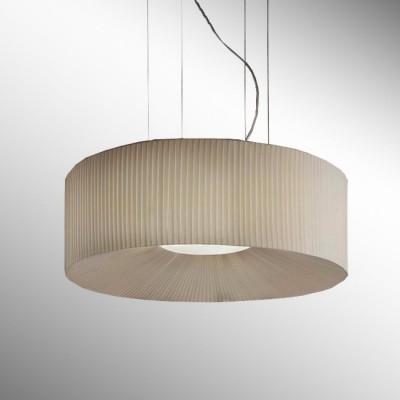 Подвесной светильник VE 1215 S1 50 Masiero BiancoПодвесные<br><br><br>Установка на натяжной потолок: да<br>S освещ. до, м2: 7<br>Тип цоколя: E27<br>Цвет арматуры: хром<br>Количество ламп: 1<br>Диаметр, мм мм: 500<br>Высота полная, мм: 1200<br>Высота, мм: 300<br>Оттенок (цвет): бежевый<br>MAX мощность ламп, Вт: 60