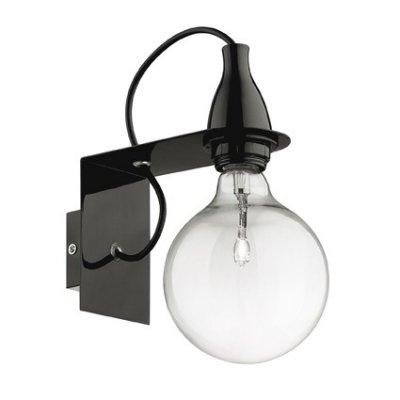 Купить Светильник бра Ideal Lux MINIMAL AP1 NERO, Италия