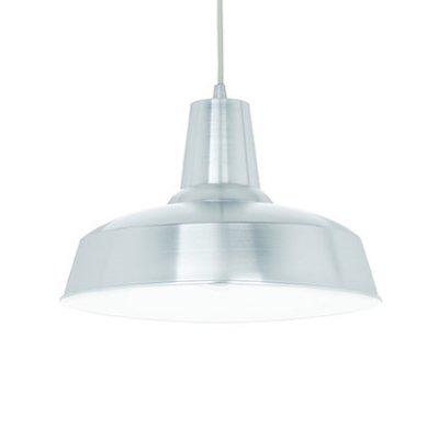 Подвесной светильник Ideal Lux MOBY SP1 ALLUMINIOодиночные подвесные светильники<br>Подвесной светильник – это универсальный вариант, подходящий для любой комнаты. Сегодня производители предлагают огромный выбор таких моделей по самым разным ценам. В каталоге интернет-магазина «Светодом» мы собрали большое количество интересных и оригинальных светильников по выгодной стоимости. Вы можете приобрести их в Москве, Екатеринбурге и любом другом городе России.  Подвесной светильник Ideal lux MOBY SP1 ALLUMINIO сразу же привлечет внимание Ваших гостей благодаря стильному исполнению. Благородный дизайн позволит использовать эту модель практически в любом интерьере. Она обеспечит достаточно света и при этом легко монтируется. Чтобы купить подвесной светильник Ideal lux MOBY SP1 ALLUMINIO, воспользуйтесь формой на нашем сайте или позвоните менеджерам интернет-магазина.<br><br>S освещ. до, м2: 3<br>Тип цоколя: E27<br>Количество ламп: 1<br>Диаметр, мм мм: 400<br>Длина цепи/провода, мм: 900<br>Высота, мм: 400<br>MAX мощность ламп, Вт: 60