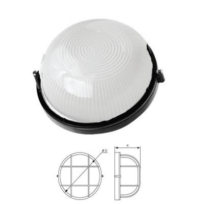 Светильник Navigator 94 815 черныйДля подъездов и саун<br>Влагозащищенные светильники типа NBL-R круглой формы предназначены для использования с лампами накаливания со стандартным цоколем Е27 и поставляются в двух типоразмерах – для ламп максимальной мощностью 60 Вт и 100 Вт и степенью защиты от воздействия окружающей среды IP54.<br><br>Тип товара: Светильник NBL c IP<br>Тип лампы: накал-я - энергосб-я<br>Тип цоколя: E27<br>MAX мощность ламп, Вт: 100W<br>Диаметр, мм мм: 235<br>Расстояние от стены, мм: 110