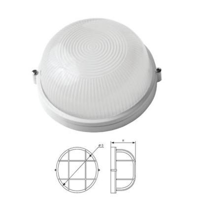 Светильник Navigator 94 806 белыйДля подъездов и саун<br>Влагозащищенные светильники типа NBL-R круглой формы предназначены для использования с лампами накаливания со стандартным цоколем Е27 и поставляются в двух типоразмерах – для ламп максимальной мощностью 60 Вт и 100 Вт и степенью защиты от воздействия окружающей среды IP54.<br><br>Тип лампы: накал-я - энергосб-я<br>Тип цоколя: E27<br>MAX мощность ламп, Вт: 100W<br>Диаметр, мм мм: 235<br>Расстояние от стены, мм: 110