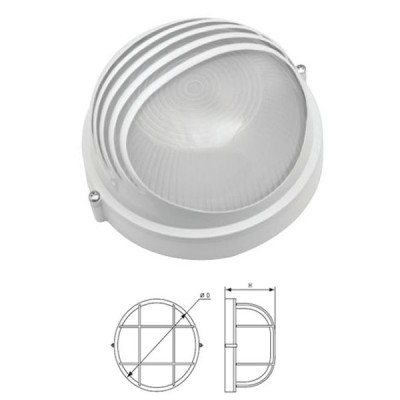 Светильник Navigator 94 819 белый с ресничкамиДля подъездов и саун<br>Влагозащищенные светильники типа NBL-R круглой формы предназначены для использования с лампами накаливания со стандартным цоколем Е27 и поставляются в двух типоразмерах – для ламп максимальной мощностью 60 Вт и 100 Вт и степенью защиты от воздействия окружающей среды IP54.<br><br>Тип лампы: накал-я - энергосб-я<br>Тип цоколя: E27<br>Диаметр, мм мм: 235<br>Расстояние от стены, мм: 110<br>MAX мощность ламп, Вт: 100W