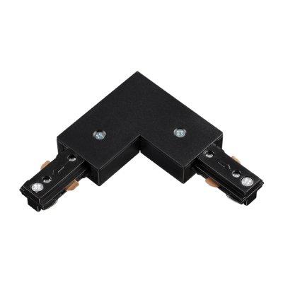 Соединитель для шинопровода L-образный Novotech 135009Шинопровод<br><br><br>Ширина, мм: 70<br>Оттенок (цвет): черный