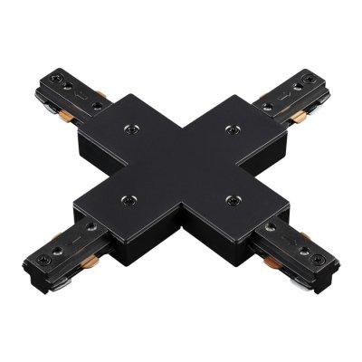 Соединитель для шинопровода X-образный Novotech 135013Шинопровод<br><br><br>Ширина, мм: 105<br>Оттенок (цвет): черный