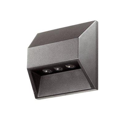 Novotech SUBMARINE 357226 уличный настенный светильникНастенные<br>Декоративный светодиодный уличный настенный светильник модели Novotech 357226 из серии SUBMARINE отличается следующим качеством: Корпус светильника сделан из алюминия. Это металл, основными  достоинствами которого являются — устойчивость к практически всем видам негативного воздействия окружающей среды, коррозии, небольшой вес, по сравнению с другими видами металла и   экологическая безопасность материала.  Рассеиватель – пластик. Этот материал имеет высокие эксплуатационные показатели, что объясняется его повышенной стойкостью к механическим повреждениям и защищенностью от факторов внешней среды. Экономичность (КПД порядка 90%), отсутствие токсичных элементов (не наносят вред здоровью, не требуют специальной утилизации),  отсутствие ультрафиолетового излучения, пожаробезопасность  (не нагреваются),  морозостойкость, ударопрочность и устойчивость к вибрациям. Срок службы светодиодов до 25 000 часов. Диапазон рабочих температур от -20 до +50 градусов Цельсия.<br><br>Цвет арматуры: черный<br>MAX мощность ламп, Вт: 3