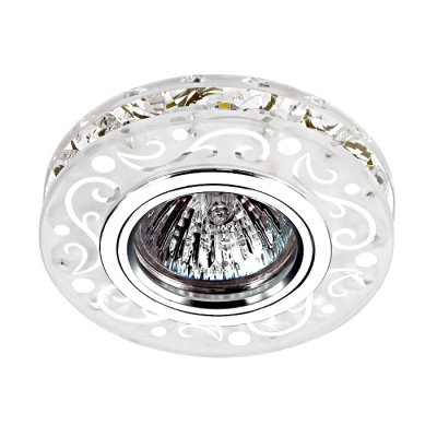 Novotech RIVA 357310 Светильник встраиваемыйКруглые<br>Встраиваемый светильник со светодиодной подсветкой и встроенным драйвером модели Novotech 357310 из серии RIVA отличается следующим качеством: Декоративное украшение произведено из хрусталя. Хрусталь обладает высоким показателем плотности, прозрачности и блеска. Благодаря содержанию свинца (не менее 30%). Хрусталь обладает высоким показателем плотности, прозрачности и блеска. Благодаря содержанию свинца (не менее 30%) и определённому подбору углов, образуемых гранями, изделия из хрусталя отличаются необыкновенно яркой, многоцветной игрой света, чарующей магией красоты, совершенства и роскоши. Имееется возможность раздельного включения LED и лампы, при использовании двухклавишного выключателя света.<br><br>Тип лампы: галогенная/LED<br>Тип цоколя: gu5.3<br>Цвет арматуры: серебристый<br>Диаметр, мм мм: 95<br>Диаметр врезного отверстия, мм: 60<br>Высота, мм: 35<br>MAX мощность ламп, Вт: 50