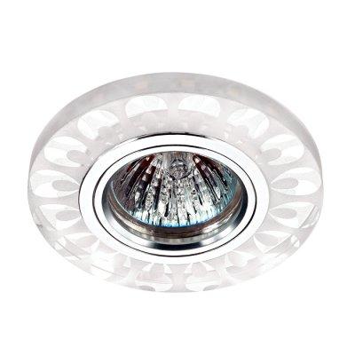 Novotech RIVA 357314 Светильник встраиваемыйКруглые<br>Встраиваемый светильник со светодиодной подсветкой и встроенным драйвером модели Novotech 357314 из серии RIVA отличается следующим качеством: Декоративное украшение произведено из хрусталя. Хрусталь обладает высоким показателем плотности, прозрачности и блеска. Благодаря содержанию свинца (не менее 30%). Хрусталь обладает высоким показателем плотности, прозрачности и блеска. Благодаря содержанию свинца (не менее 30%) и определённому подбору углов, образуемых гранями, изделия из хрусталя отличаются необыкновенно яркой, многоцветной игрой света, чарующей магией красоты, совершенства и роскоши. Имееется возможность раздельного включения LED и лампы, при использовании двухклавишного выключателя света.<br><br>Тип лампы: галогенная/LED<br>Тип цоколя: gu5.3<br>Цвет арматуры: серебристый<br>Диаметр, мм мм: 95<br>Диаметр врезного отверстия, мм: 60<br>Высота, мм: 25<br>MAX мощность ламп, Вт: 50