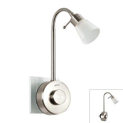 Novotech NIGHT LIGHT 357323 Светильник ночникНочники<br>Светильник-ночник (в розетку) светодиодный с выключателем - диммером модели Novotech 357323 из серии NIGHT LIGHT отличается следующим качеством: Выключатель светильника сделан из пластика АБС. Преимуществами данного материала являются: 1. Химическая инертность – материал устойчив к воздействию кислот и щелочей, продуктов нефтепереработки; 2. Устойчивость к воздействию влаги; 3. Ударопрочность; 4. Долговечность; 5. Ровная поверхность Гибким металлическим держателем позволяет изменять направление и угол освещения. Наличие светорегулятора (диммера) позволяет плавно управлять процессом освещения.<br><br>Цветовая t, К: 3000<br>Тип лампы: LED<br>Тип цоколя: LED<br>MAX мощность ламп, Вт: 1<br>Диаметр, мм мм: 78<br>Высота, мм: 365<br>Цвет арматуры: серебристый