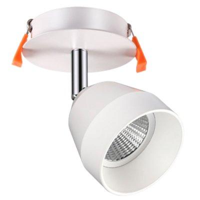 Встраиваемый светильник Novotech 357453 SOLOВстраиваемые светильники направленного света<br><br><br>Цветовая t, К: 3000К<br>Высота, мм: 140<br>Оттенок (цвет): матовый белый<br>MAX мощность ламп, Вт: COB 10W