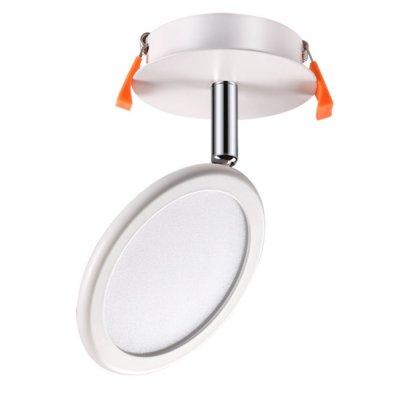 Встраиваемый светильник Novotech 357454 SOLOНа ножке<br><br><br>Цветовая t, К: 3000К<br>MAX мощность ламп, Вт: 27LED 8W<br>Высота, мм: 165<br>Оттенок (цвет): матовый белый<br>Цвет арматуры: серебристый