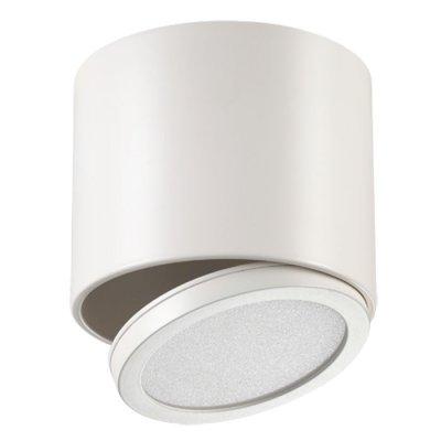 Накладной светильник Novotech 357455 SOLOНакладные точечные<br><br><br>S освещ. до, м2: 5<br>Цветовая t, К: 3000К<br>Цвет арматуры: белый<br>Высота, мм: 100<br>Оттенок (цвет): матовый белый<br>MAX мощность ламп, Вт: 30LED 8W+3W