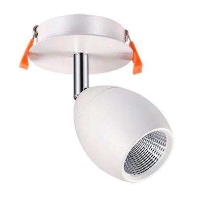 Встраиваемый светильник Novotech 357456 SOLOНа ножке<br><br><br>Цветовая t, К: 3000К<br>MAX мощность ламп, Вт: COB 10W<br>Высота, мм: 150<br>Оттенок (цвет): матовый белый